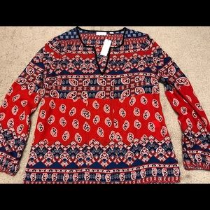 NWT NY&C red blouse top Small